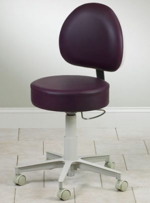 Premium Series, 5-Leg, Pneumatic Stool with D-Shaped Backrest