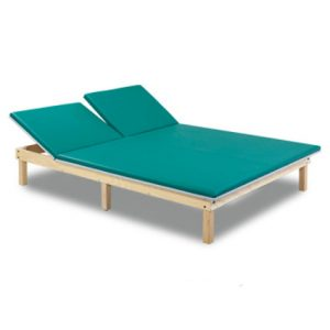Physical Therapy Mat Platform with Adjustable Split Backrest