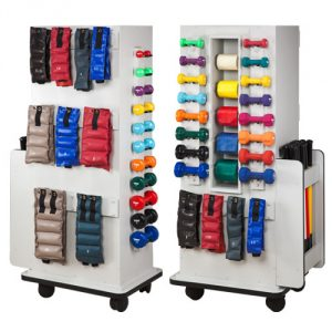 Fraser SlimRac Physical Therapy Equipment Rack