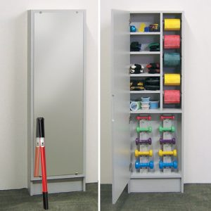 Physical Therapy Hide-A-Way Cabinet with Mirror