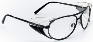 Model 600 Aviator Style Radiation Protection Glasses - Pewter