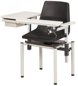 SC Series, EZ Clean Blood Drawing Chair with Flip Arm & Drawer