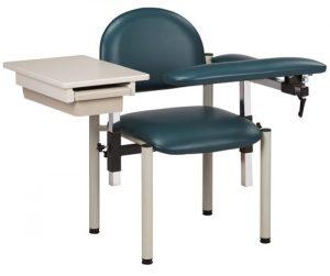 SC Series, Padded Blood Draw Chair w/ Padded Flip Arm & Drawer