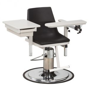 H Series EZ Clean Blood Draw Chair with C-Clean Arms & Drawer