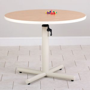 Round Gas Spring Adjustable Physical Therapy Table
