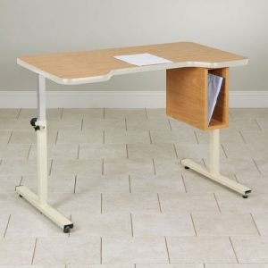 Personal Work Table with Small Cut-Out and Tilt Top