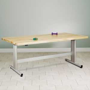 Group Therapy Butcher Block Table w/ Electric Height Adjustment