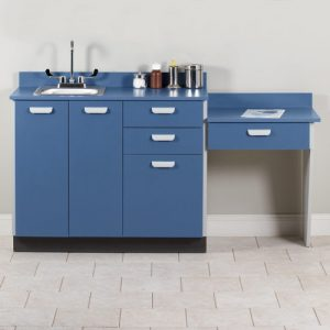 Base Cabinet Set with 3 Doors, 3 Drawers and Desk