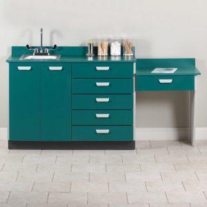 """48"""" Base Cabinet Desk & Sink Combo"""