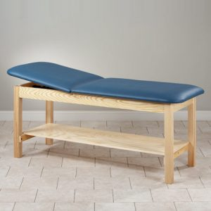 Model 81020 Eco Friendly Wood Patient Treatment Table with Shelf