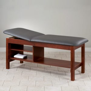 Model 81030 Eco Friendly Wood Patient Treatment Table with Shelving