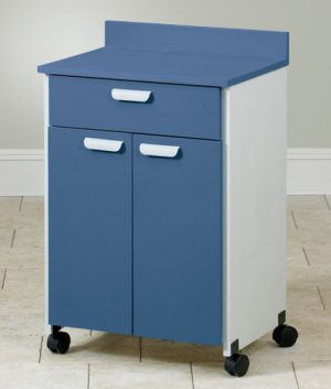Lam Top Mobile Treatment Cabinet with 2 Doors and 1 Drawer