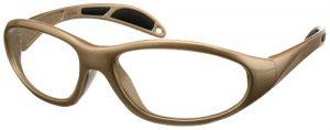 Brown - Model 99 UltraLite Wrap-Around Leaded Glasses