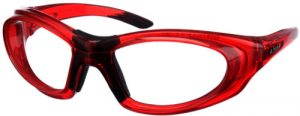 Model 9935 SuperLite Wrap-Around Leaded Glasses - Red Translucent