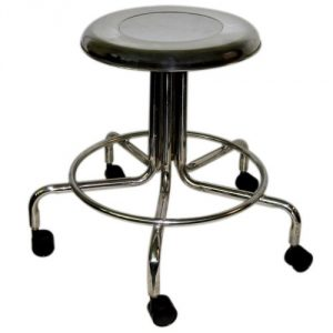 MRI Non-Magnetic Adjustable Height Doctor Stool w/ Casters