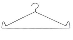 Economy X-ray Apron Hanger - Set of 5