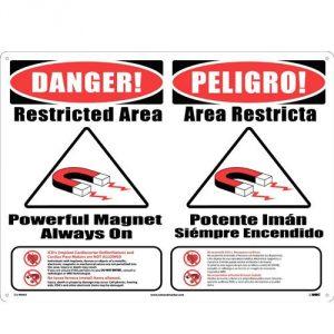 MRI Warning Sign - Combination English & Spanish