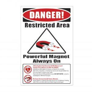 "MRI Plastic Warning Sign ""Items Not Allowed"""