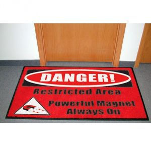 "MRI Non-Magnetic Floor Mat  Warning Sign ""Magnet Always On"""