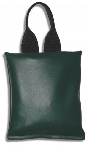 "Patient Positioning Sandbag 5 LB  - 9"" x 9"" - Dark Green"