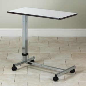 Over Bed Table with H-Base - Grey Top