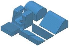 Trauma Kit B - Coated Patient Positioning Sponge Kit