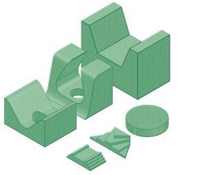 Pediatric Kit - Coated Patient Positioning Sponge Kit