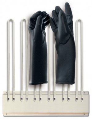 Techno-Aide Mobile X-ray Apron Rack with Glove Adapter