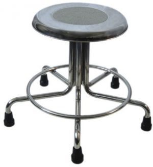 "MRI Non-Magnetic Adjustable Height Doctor Stool, 15"" to 21"""