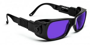 Dye Diode and HeNe Ruby Laser Safety Glasses - Model #300