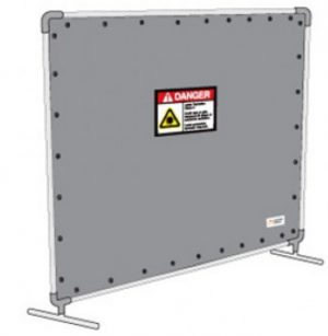8 x 7 ft Laser Safety Barrier