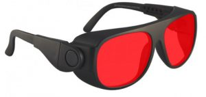 Argon Alignment Laser Safety Glasses - Model #66 - Black