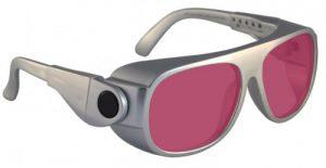 Alexandrite/Diode Laser Safety Glasses - Model #66 - Silver