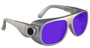 Dye Diode and HeNe Ruby Laser Safety Glasses - Model #66 - Silver