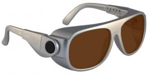 DH83 Filter Laser Safety Glasses - Model #66 - Silver