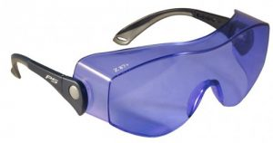 DYE SFP Filter Laser Safety Glasses - Model OTG Fitover