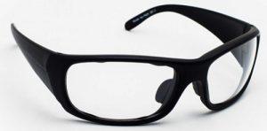 Model P820 Wrap-Around Radiation Protection Glasses - Black