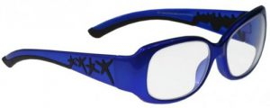 Model W200 Radiation Protection Glasses - Blue / Black