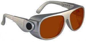 YAG Double Harmonics Laser Safety Glasses - Model #66 - Silver