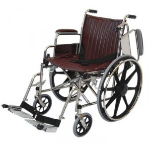 "18"" Wide Non-Magnetic MRI Wheelchair w/ Flip Back Arms and Detachable Footrests"