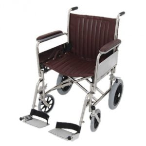 "20"" Wide MRI Non-Magnetic Transport Chair with Detachable Footrests"