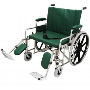 "24"" Wide Non-Magnetic MRI Bariatric Wheelchair w/ Detachable Elevating Legrests"