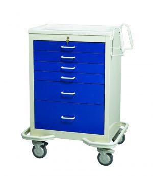 Key Lock 6 Drawer Anesthesia Cart