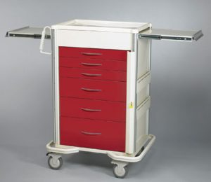 "Emergency Crash Cart - Select Series 6 Drawer with 30"" Breakaway Lock Bar"
