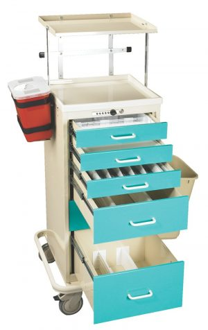 5 Drawer Anesthesia Mini Tower with Key Lock - TTA-PK