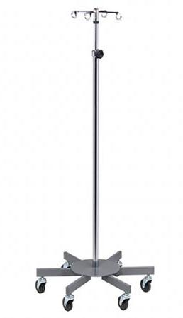 Six-Leg 4-Hook Infusion Pump Stand