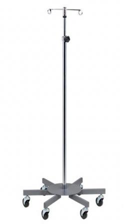 Six-Leg, 2-Hook Infusion Pump Stand