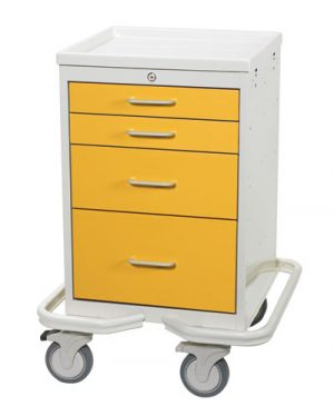 4 DRAWER MINI TOWER ISOLATION CART