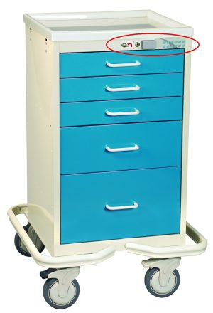 5 Drawer Anesthesia Mini Tower with Proximity Reader