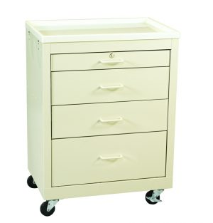 4 Drawer Value Bedside Medical Cart